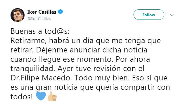 تغريدة إيكر كاسياس