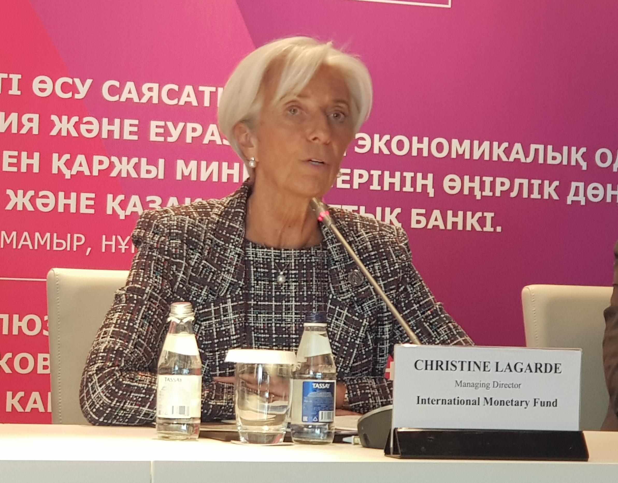 كريستين لاجارد فى منتدى أستانا  (3)