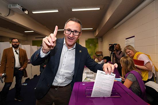 زعيم الخضر الأسترالي ريتشارد دي ناتالي