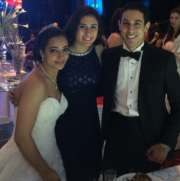 نور الشربيني من حفل زفاف رنيم وطارق