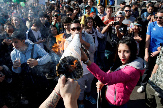 مسيرة الحشاشين فى تشيلى (4)