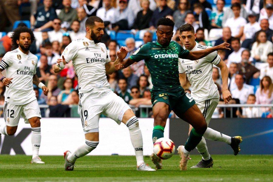 جانب من مباراة الريال ضد ريال بيتيس