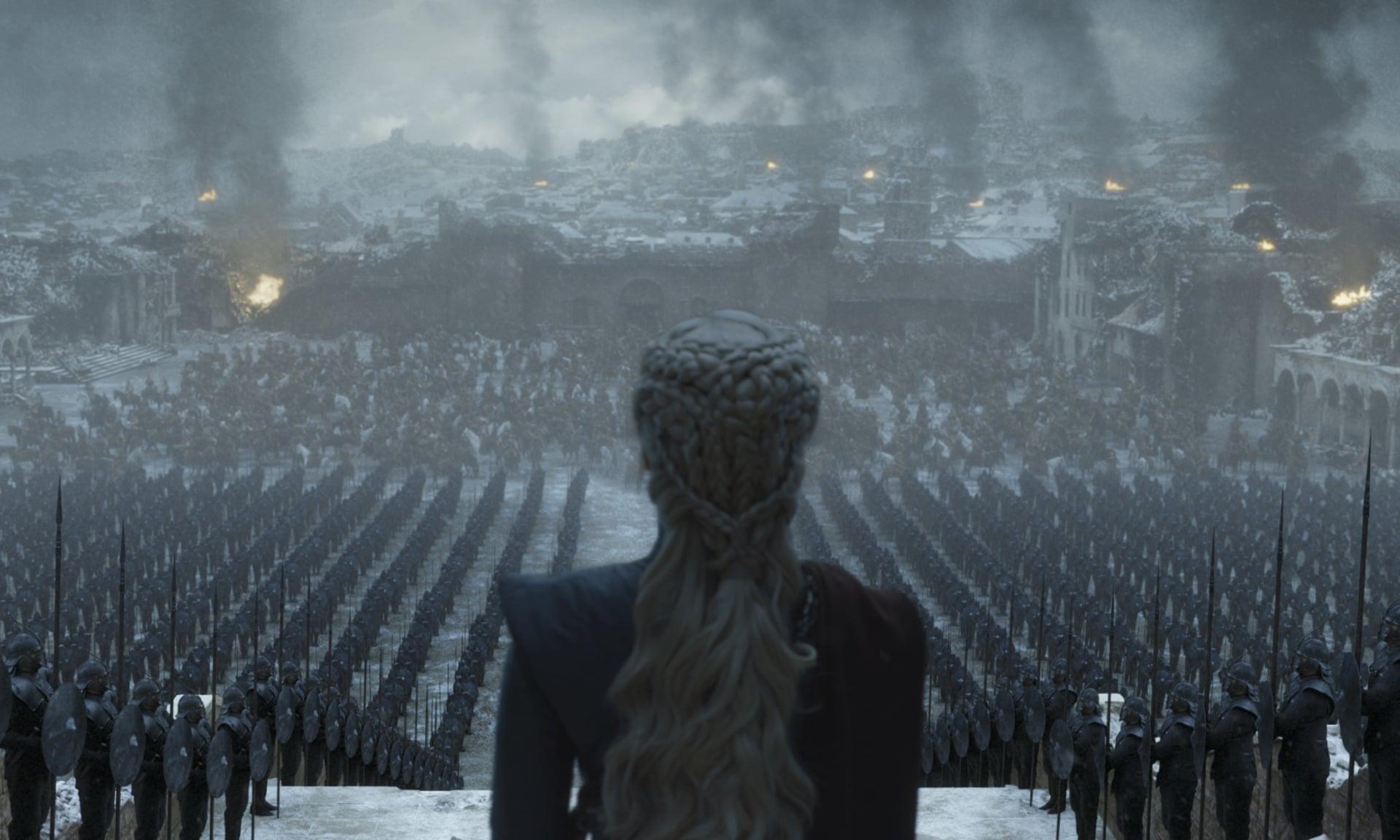 مشهد من الحلقة الأخيرة من مسلسل Game of Thrones