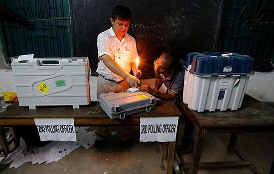 انتهاء الانتخابات فى الهند