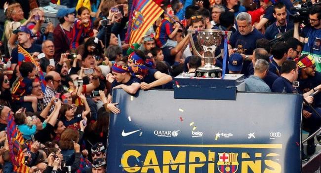 برشلونة بطل الدورى الأسباني