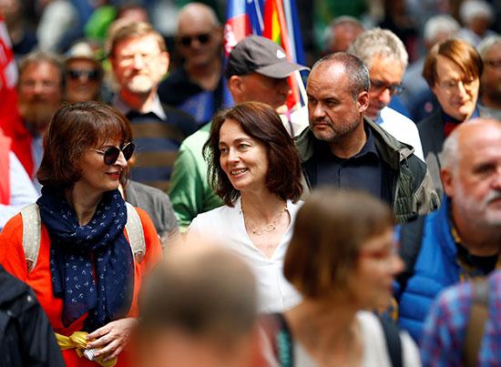 كاترينا بارلى وزيرة العدل الألمانية والحزب الاجتماعى الديمقراطى المرشحة الأولى لانتخابات البرلمان الأوروبى