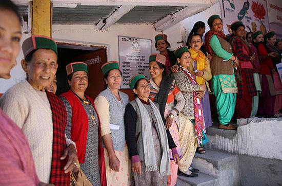 طابور الناخبين فى الهند