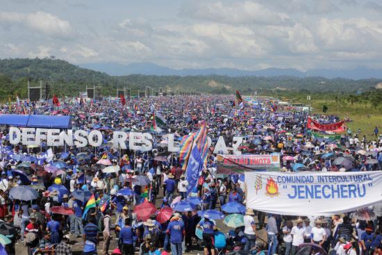 أنصار-الرئيس-البوليفى-إيفو-موراليس-يتظاهرون-دعما-لترشحة-لولاية-رابعة-(4)
