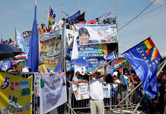 أنصار-الرئيس-البوليفى-إيفو-موراليس-يتظاهرون-دعما-لترشحة-لولاية-رابعة-(1)