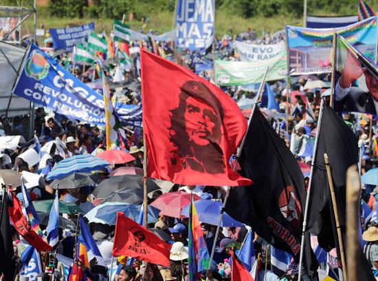 أنصار-الرئيس-البوليفى-إيفو-موراليس-يتظاهرون-دعما-لترشحة-لولاية-رابعة-(3)
