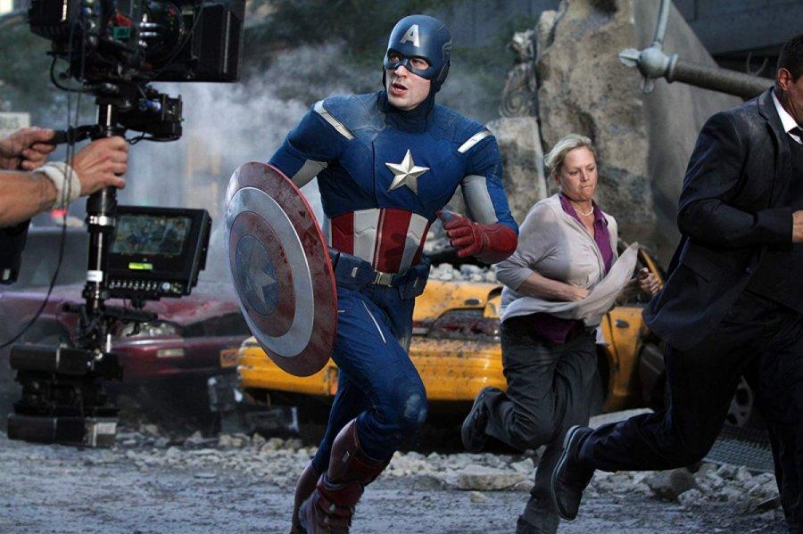 كريس إيفانز في كواليس Captain America The Winter Soldier في 2014
