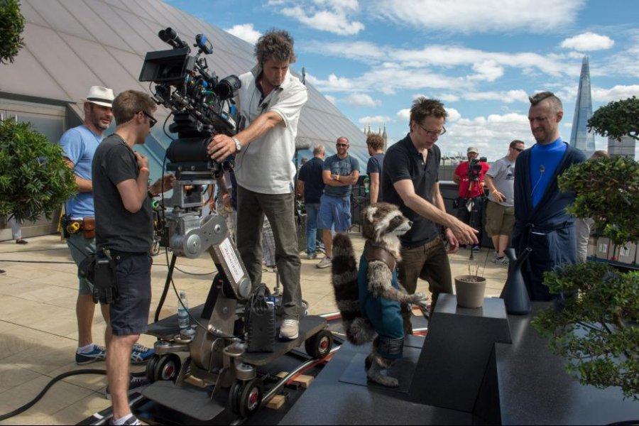 جيمس جن وشين جن في كواليس Guardians of the Galaxy في 2014
