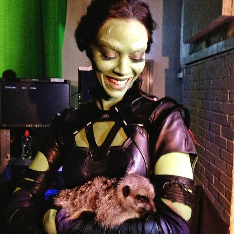زوي سالدانا في كواليس  Guardians of the Galaxy في 2014