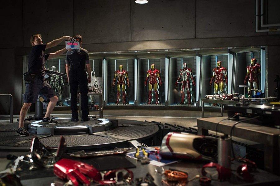 روبرت داوني جونيور في كواليس Iron Man Three في 2013