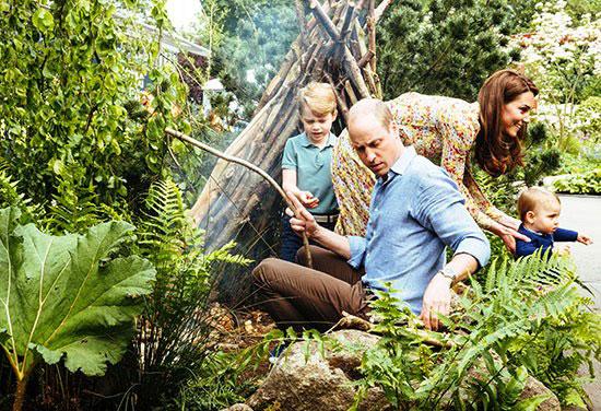 يوم-عائلى-لدوق-ودوقة-كامبريدج-وأطفالهم