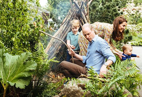 يوم عائلى لدوق ودوقة كامبريدج وأطفالهم