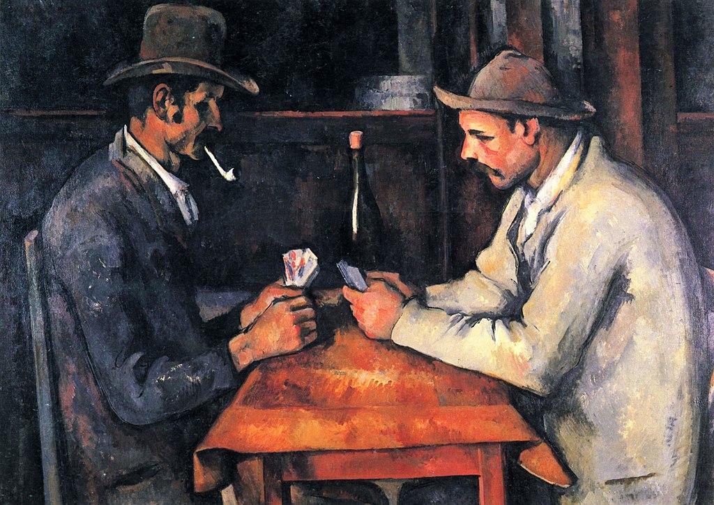 لوحة لاعبو الورق