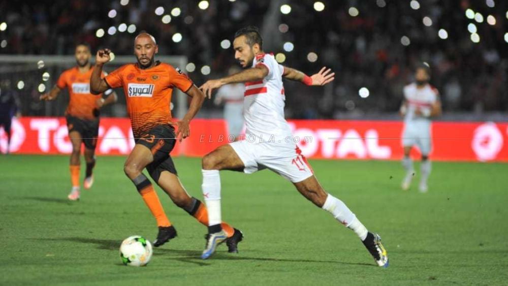 محمود كهربا في مباراة الزمالك ونهضة بركان