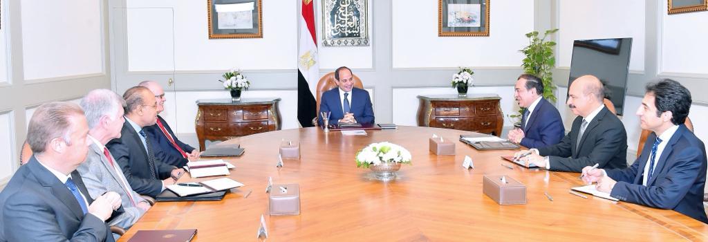 الرئيس السيسى يستقبل رئيس مجلس إدارة شركة نوبل إنرجي الأمريكية