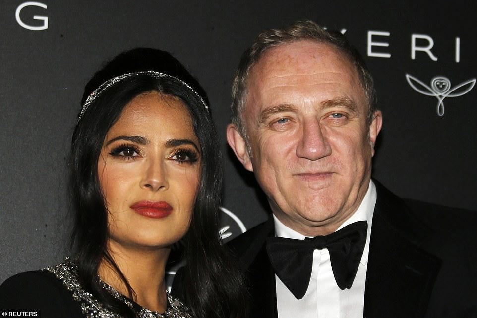 سلمي حايك و زوجها