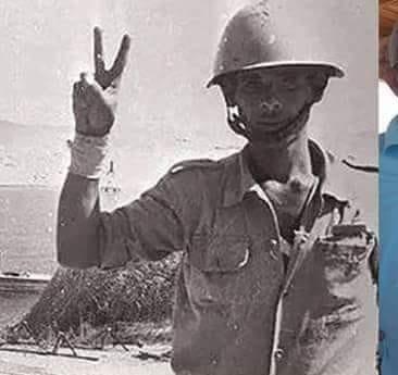 صاحب علامة النصر بحرب اكتوبر يرفعها على كوبرى تحيا مصر (1)