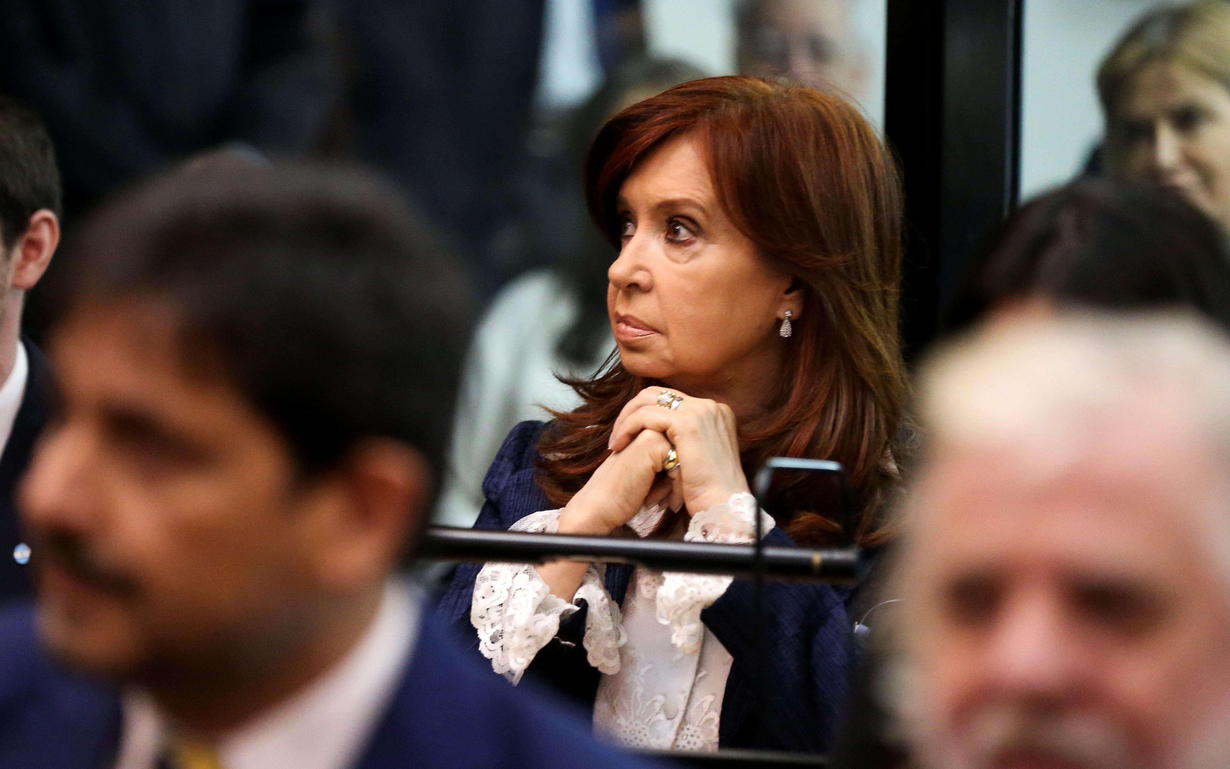 رئيسة الأرجنتين السابقة فى جلسة محاكمتها