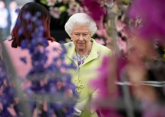 Queen Elizabeth at the Chelsea Flower Show