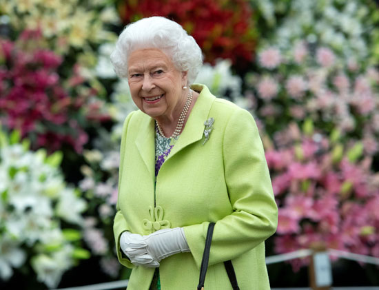 Queen Elizabeth of Britain at the Chelsea Flower Show
