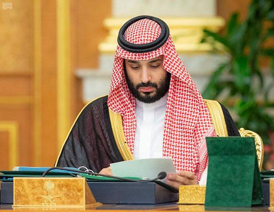 الأمير محمد بن سلمان خلال الاجتماع
