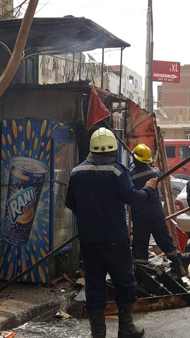 حريق داخل كشك فى مصر الجديدة (3)