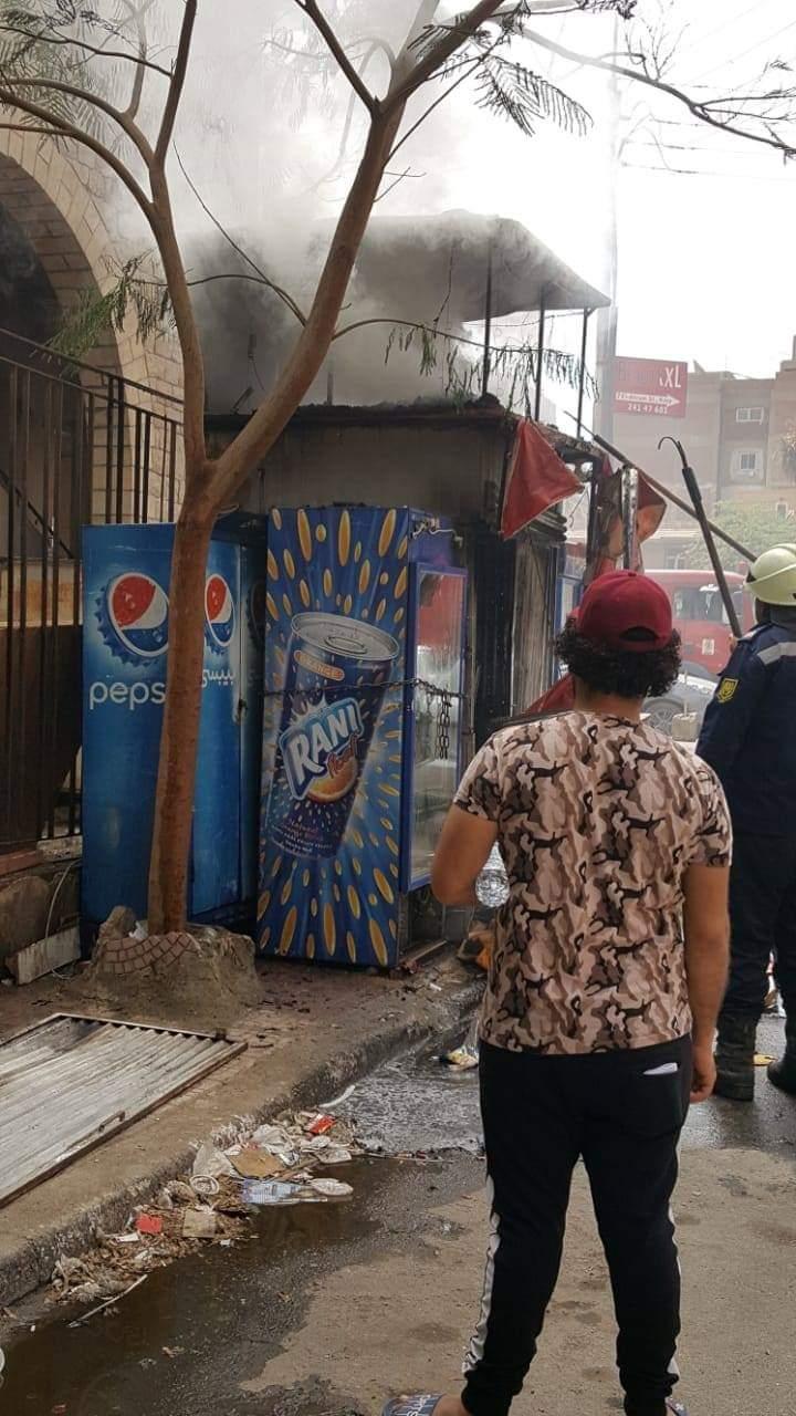 حريق داخل كشك فى مصر الجديدة (4)