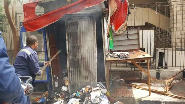 حريق داخل كشك فى مصر الجديدة (6)