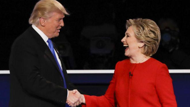 ترامب وكلينتون خلال حملتهما الانتخابية