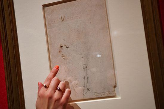 أحدى رسومات ليوناردو دافنشى
