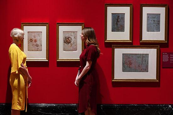 عرض رسومات دافنشى فى قصر باكنجهام