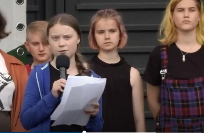 خطاب الناشطة السويدية
