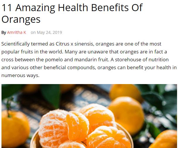 11 فائدة للبرتقال