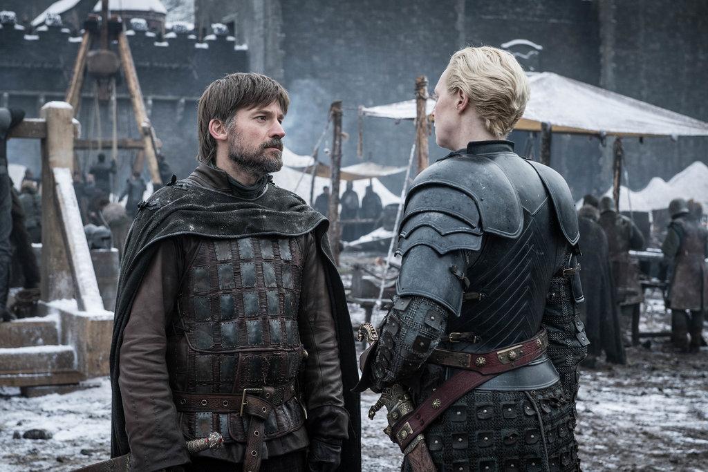 Nikolaj Coster Waldau and Gwendoline Christie in Game of Thrones