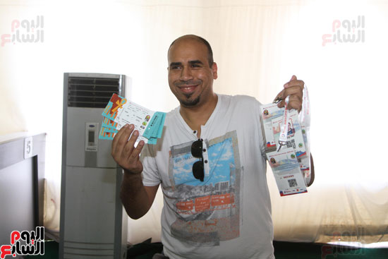 تسليم الـFAN ID وتذاكر أمم أفريقيا بمركز شباب الجزيرة (9)