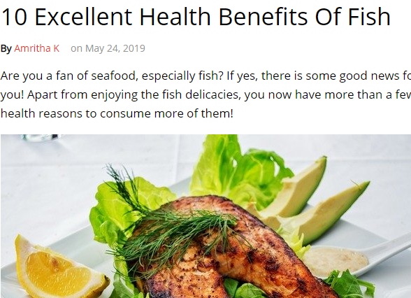 فوائد الاسماك على صحتك