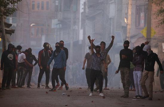 الاحتجاجات فى كشيمير