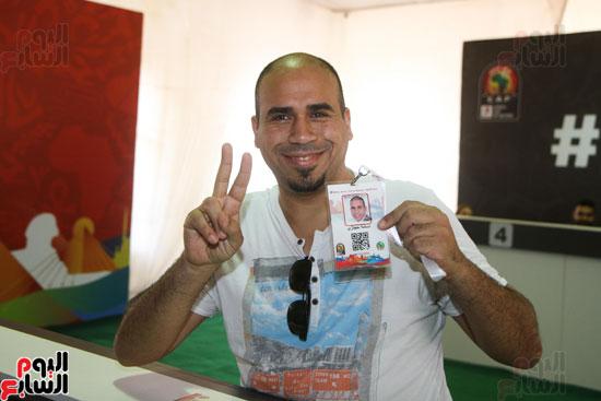 تسليم الـFAN ID وتذاكر أمم أفريقيا بمركز شباب الجزيرة (5)