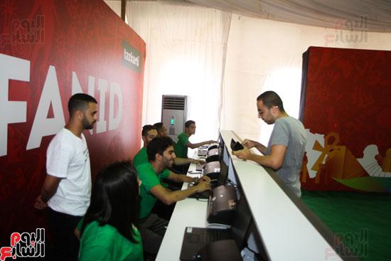 تسليم الـFAN ID وتذاكر أمم أفريقيا بمركز شباب الجزيرة (11)