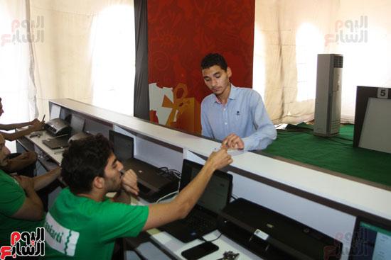 تسليم الـFAN ID وتذاكر أمم أفريقيا بمركز شباب الجزيرة (18)