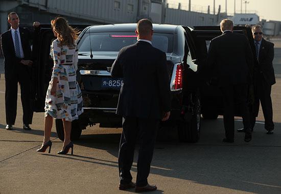 ترامب وميلانيا يصلان إلى اليابان
