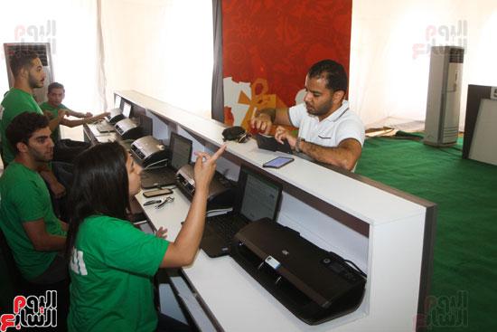 تسليم الـFAN ID وتذاكر أمم أفريقيا بمركز شباب الجزيرة (22)