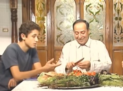 كريم محمود عبد العزيز وصلاح حسنى في مسلسل رجل في زمن العولمة
