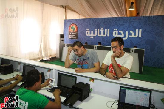 تسليم الـFAN ID وتذاكر أمم أفريقيا بمركز شباب الجزيرة (14)