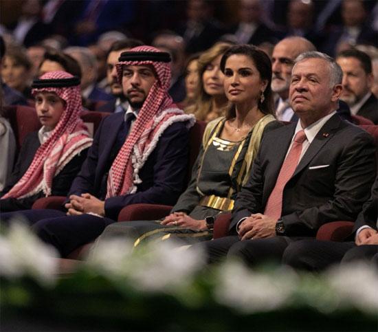 العاهل الأردنى وقرينته يشهدان الاحتفال