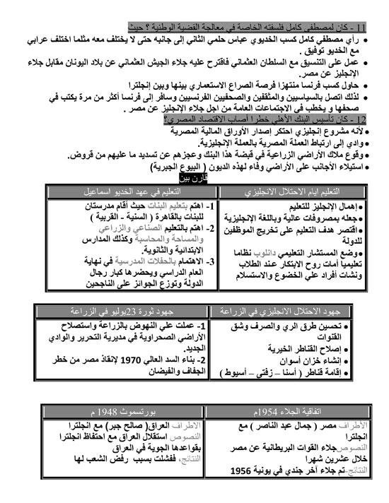 المراجعات النهائية لطلاب الثانوية العامة فى مادة التاريخ (8)